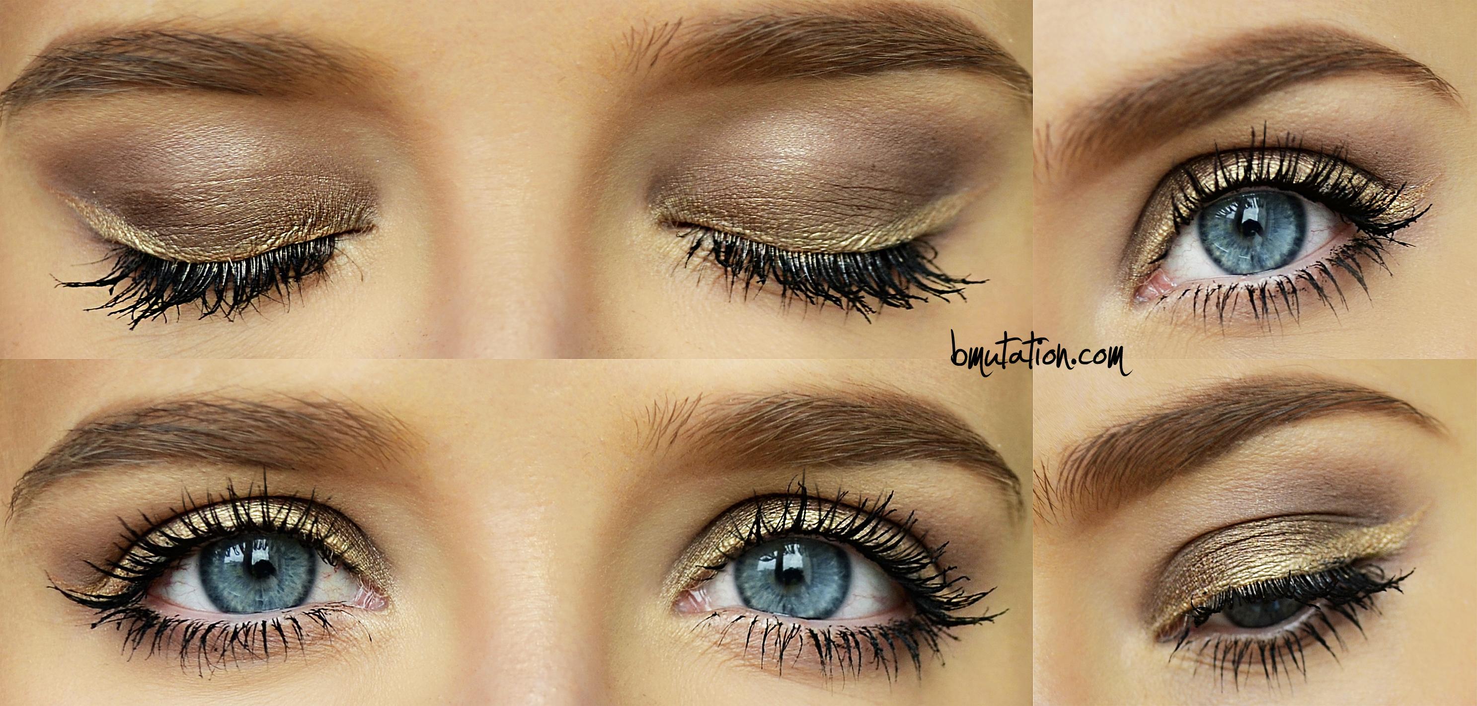 Макияж для глаз со светлыми тенями